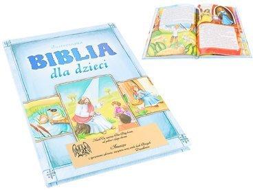 Biblia dla dzieci Pamiątka na chrzest z Dedykacją