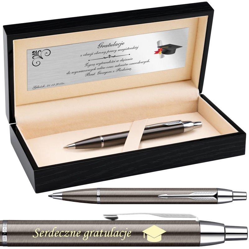 Długopis Parker IM Gun Metal CT Grawer i Dedykacja