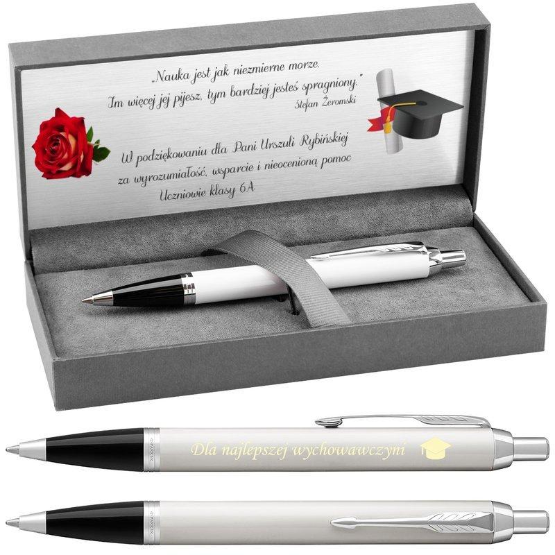 Długopis Parker IM White CT z Grawerem