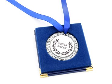 Medal srebrny w etui NADRUK prezent