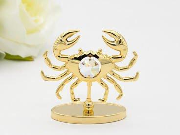 Rak zodiak figurka z kryształami Swarovski GRAWER prezent