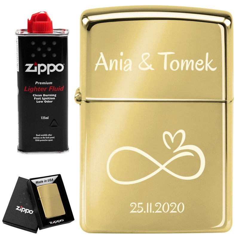 Zapalniczka ZIPPO 254 B High Polish Brass Benzyna GRAWER