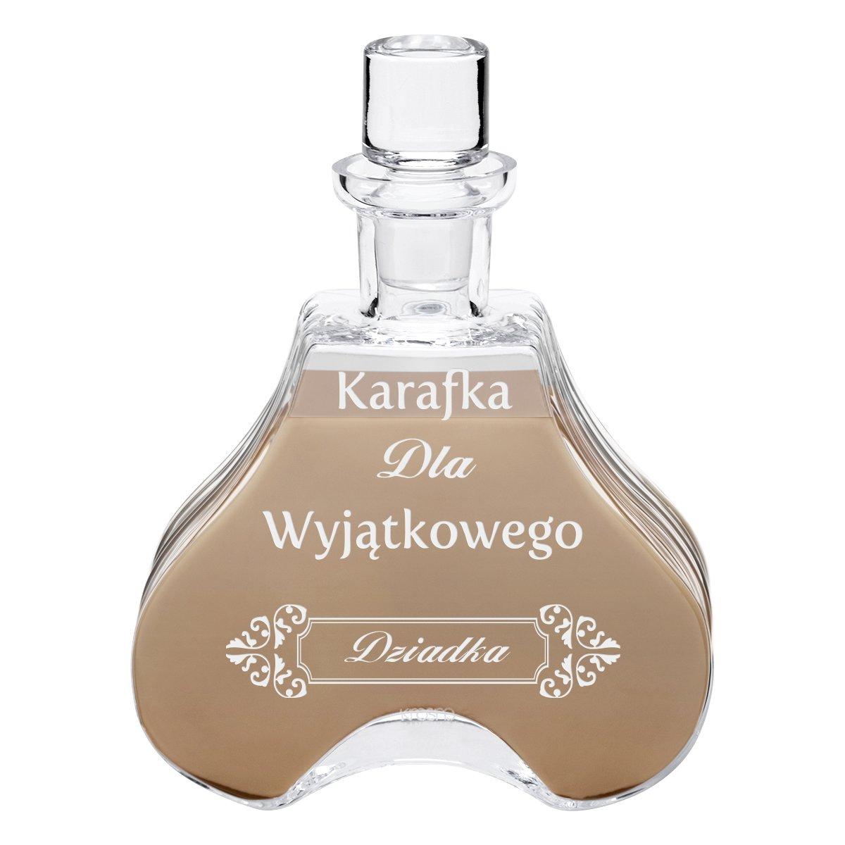 Karafka ze szkła do likieru 600 ml Vintage Prezent z Grawerem