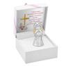 Aniołek  z sercem 7 cm Srebro Grawer Dedykacja Pamiątka Chrztu na Chrzest 4