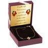 Bransoletka z kwiatkiem i czarną łezką Złoto pr. 585  dedykacja 2