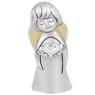Figurka anioła z sercem, posrebrzana na Chrzest Dedykacja 3
