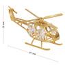 Helikopter Swarovski Pamiątka chrzest roczek z GRAWEREM Dedykacja Tabliczka Niebieska Kokardka 2