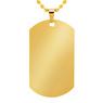 Nieśmiertelnik koloru złotego stal szlachetna TWÓJ GRAWER jakość 2