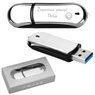 Pendrive chromowo-czarny 32 GB Pamięć USB prezent z Grawerem 1