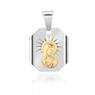 Srebrny medalik z Matką Boską, pozłacaną Dedykacja 4