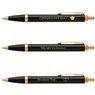 Zestaw Parker IM czarny GT Pióro wieczne Długopis GRAWER 9