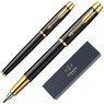 Zestaw Parker IM czarny GT Pióro wieczne Długopis Grawer 10