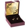 Złote kolczyki pr. 333 Kotki z cyrkonią Prezent z Dedykacją 2