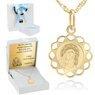 Złoty ażurowy medalik Matka Boska z Dzieciątkiem pr. 585 Dedykacja 1