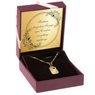 Złoty medalik w kształcie blaszki z wyciętym serduszkiem pr.585 Grawer 2